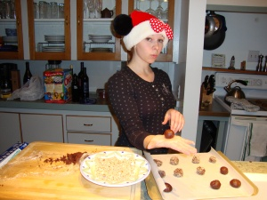 Kate Assisting With Christmas Cookies