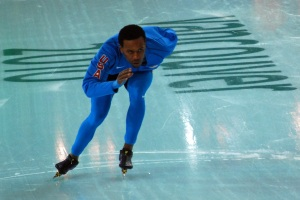 Shani Davis Warming Up at the Mens 500 Meter Event