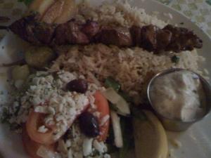 Lamb Souvlakia at Stepho's