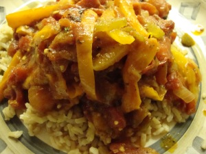 Creole Chicken Over Brown Rice