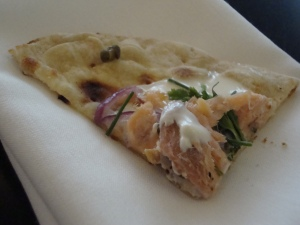 Flatbread with Salmon at Taste