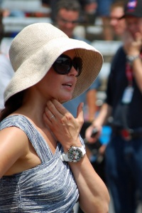 Ashley Judd at the Pit Stop Challenge at Carb Day