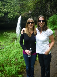 Me and Jules at Waterfall No. 1 - North Falls