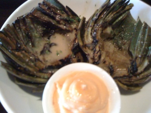 Grilled Artichoke at the Crow Bar