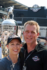 Jim and Me Posing With the Borg-Warner Trophy