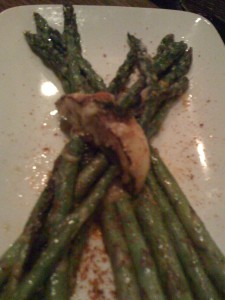 Roasted Skinny Asparagus with White Miso Butter