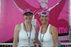 Sarah and Jen at the Breast Cancer 3-Day