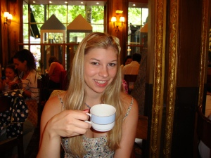 Kate Taking Tea at Laduree