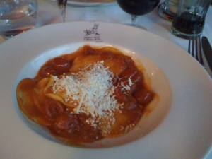 Ravioli with Tomato Sauce at Marco Polo