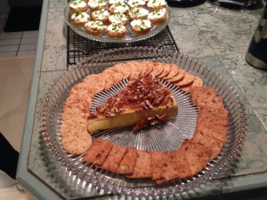 Marmalade & Pecan Topped Brie & Creole Crab Cupcakes
